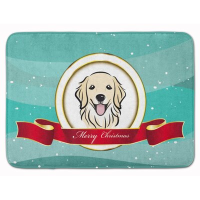 Retriever Merry Christmas Memory Foam Bath Rug
