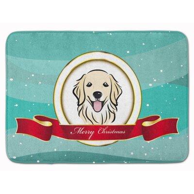 Retriever Merry Christmas Memory Foam Bath Rug