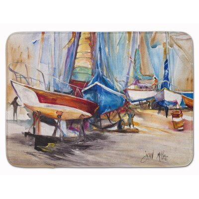 On The Hill Sailboat Memory Foam Bath Rug