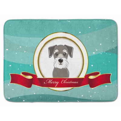 Schnauzer Merry Christmas Memory Foam Bath Rug