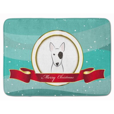 Bull Terrier Merry Christmas Memory Foam Bath Rug