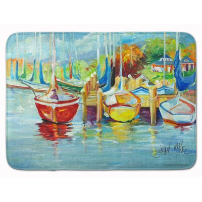 Torsten On The Dock Sailboat Memory Foam Bath Rug