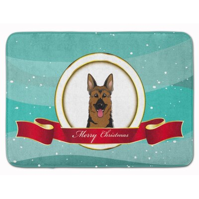 German Shepherd Merry Christmas Memory Foam Bath Rug
