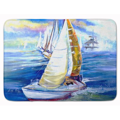 Rock My Boat Sailboat Memory Foam Bath Rug