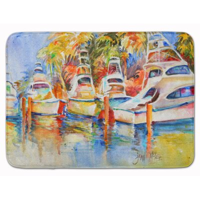 Deep Sea Fishing Boats at the Dock Memory Foam Bath Rug