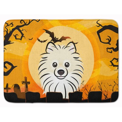 Halloween Pomeranian Memory Foam Bath Rug