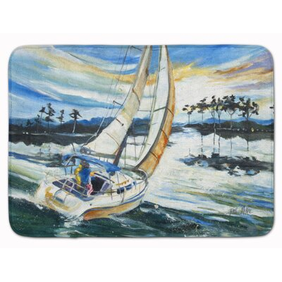 Sailboat on Lake Martin Memory Foam Bath Rug
