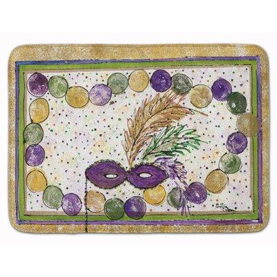 Mardi Gras Beads Memory Foam Bath Rug