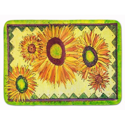 Lexi Sunflowers Waterproof Memory Foam Bath Rug