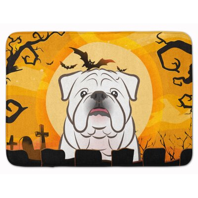 Halloween English Bulldog Memory Foam Bath Rug