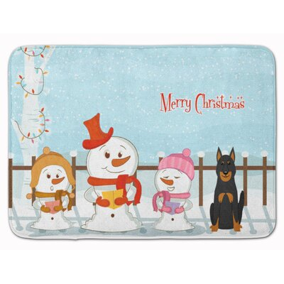Merry Christmas Beauce Shepherd Dog Memory Foam Bath Rug