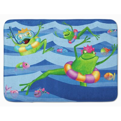 Frog Swimming Memory Foam Bath Rug