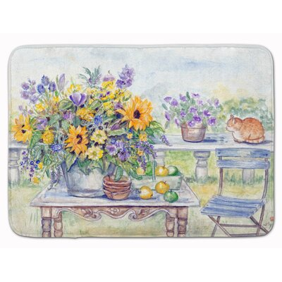 Makenna Patio Bouquet of Flower Memory Foam Bath Rug