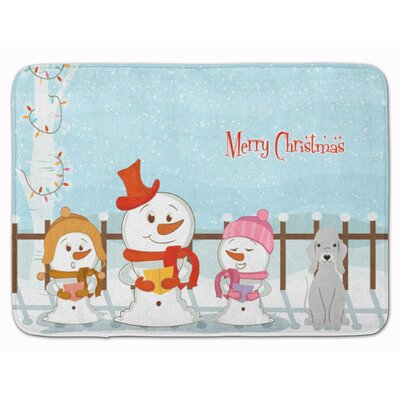 Merry Christmas Bedlington Terrier Memory Foam Bath Rug