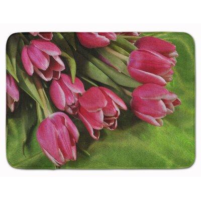Reading Tulips Memory Foam Bath Rug