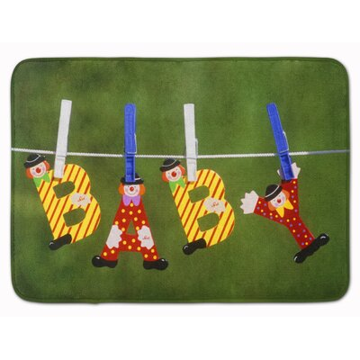 New Baby Clown Clothesline Memory Foam Bath Rug