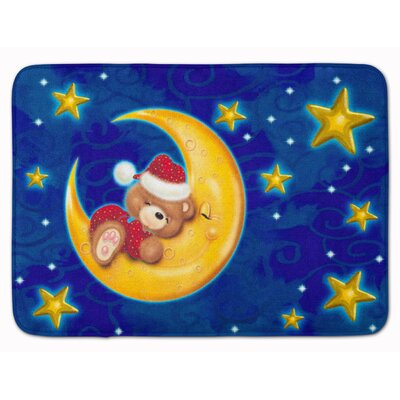 Bear Sleeping in the Moon and Stars Memory Foam Bath Rug
