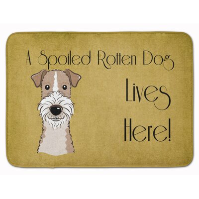 Wire Haired Fox Terrier Spoiled Dog Memory Foam Bath Rug