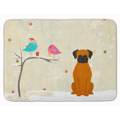 Christmas Presents Friends Fawn Boxer Memory Foam Bath Rug