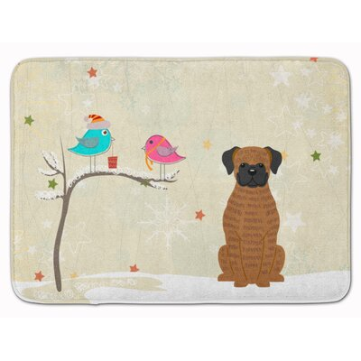 Christmas Presents Friend Brindle Boxer Memory Foam Bath Rug