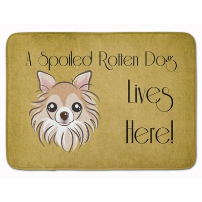 Chihuahua Spoiled Dog Lives Here Memory Foam Bath Rug