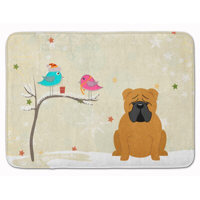 Christmas Presents English Bulldog Memory Foam Bath Rug