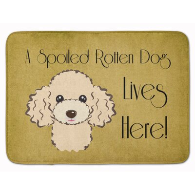 Poodle Spoiled Dog Memory Foam Bath Rug Color: Beige