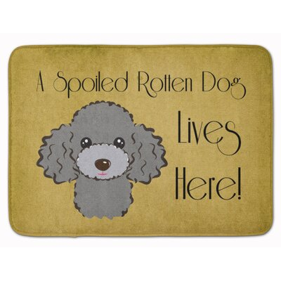 Poodle Spoiled Dog Memory Foam Bath Rug Color: Gray