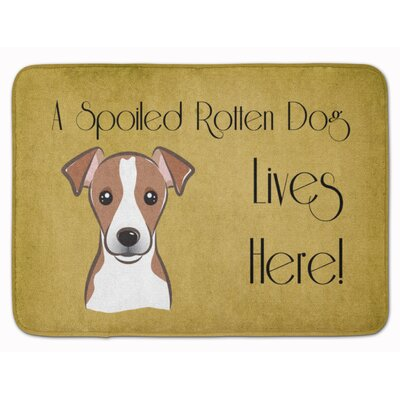 Cobbey Jack Russell Terrier Spoiled Dog Memory Foam Bath Rug Color: Brown