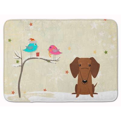 Christmas Presents Dachshund Memory Foam Bath Rug