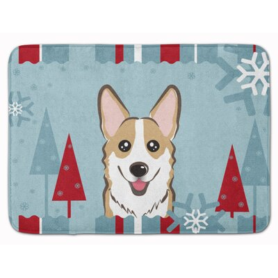 Winter Holiday Sable Corgi Memory Foam Bath Rug Color: Sable