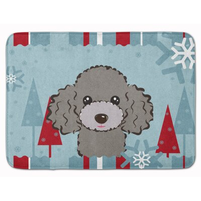 Winter Holiday Poodle Memory Foam Bath Rug