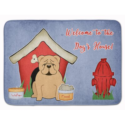Dog House English Bulldog Memory Foam Bath Rug Color: Brown