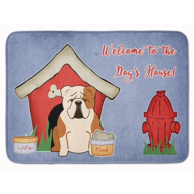 Dog House English Bulldog Memory Foam Bath Rug Color: Brown/White