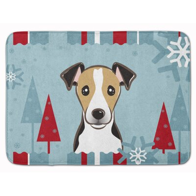 Winter Holiday Jack Russell Terrier Memory Foam Bath Rug Color: Brown/White/Black