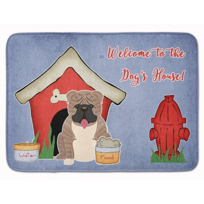 Dog House English Bulldog Brindle Memory Foam Bath Rug