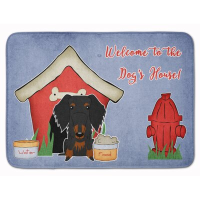Dog House Wire Haired Dachshund Memory Foam Bath Rug Color: Black