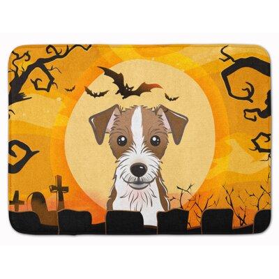 Halloween Jack Russell Terrier Memory Foam Bath Rug