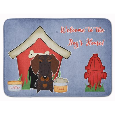 Dog House Wire Haired Dachshund Memory Foam Bath Rug Color: Chocolate