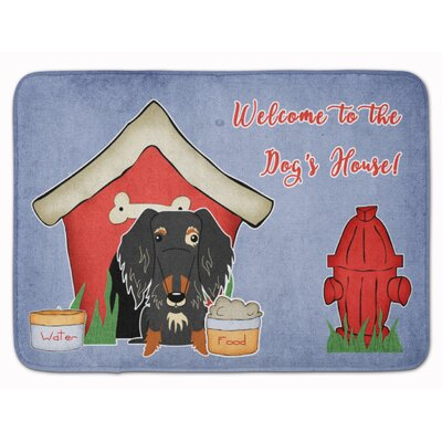 Dog House Wire Haired Dachshund Memory Foam Bath Rug Color: Gray