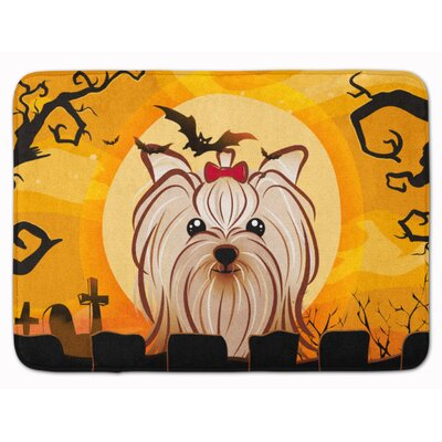 Halloween Yorkshire Terrier Memory Foam Bath Rug