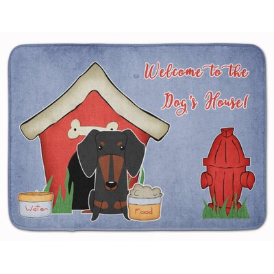 Dog House Dachshund Memory Foam Bath Rug Color: Black/Tan