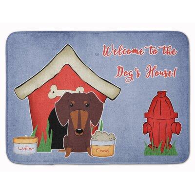 Dog House Dachshund Memory Foam Bath Rug Color: Chocolate