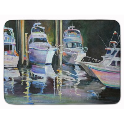 Deep Sea Fishing Boats Memory Foam Bath Rug