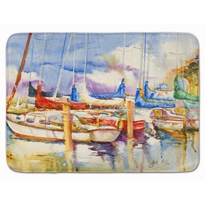 End Stall Sailboat Memory Foam Bath Rug