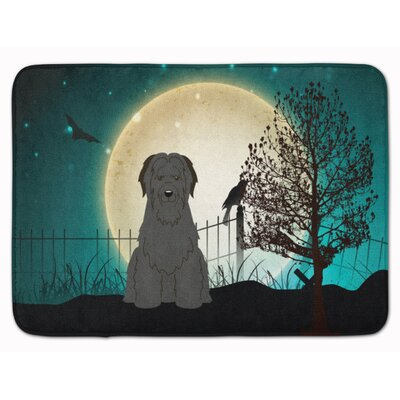 Halloween Scary Briard Memory Foam Bath Rug Color: Black