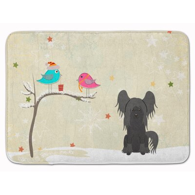 Christmas Chinese Crested Memory Foam Bath Rug