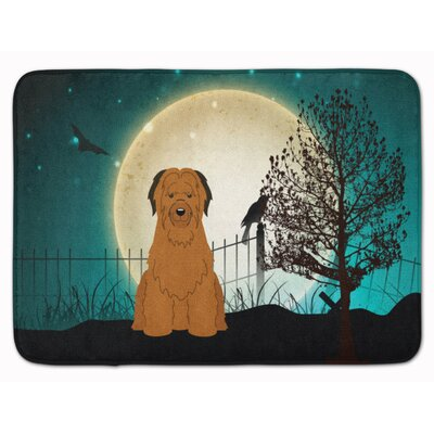 Testa Scary Briard Memory Foam Bath Rug Color: Brown