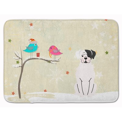 Christmas Presents Boxer Cooper Memory Foam Bath Rug