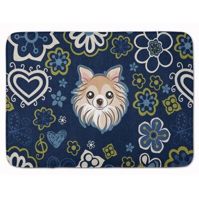 Flower Chihuahua Memory Foam Bath Rug